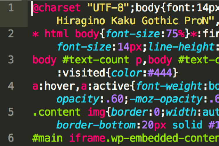 Sublime Text 3 改行ありminify