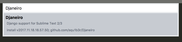 Sublime Text 3 『Djaneiro』のインストール